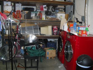 The work of Donna Till, Professional Organizer: Garage Before