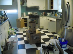 The work of Donna Till, Professional Organizer: Kitchen Before