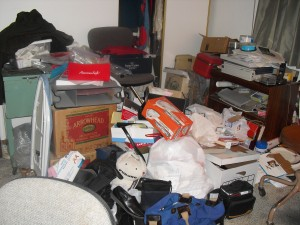 The work of Donna Till, Professional Organizer: Office Before